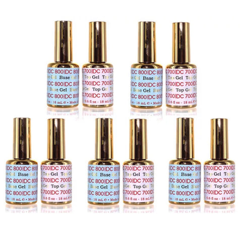 DND DC - Base & Gel Top Coat #700 800  .6 fl oz - 5 SETS
