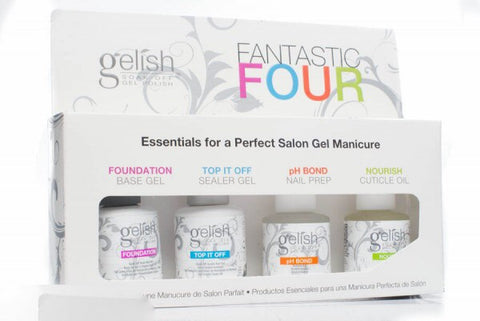 Harmony Gelish Fantastic Four - Foundation Base, Top It Off , pH Bond, & Nourish