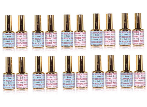 DND DC - Base & Gel Top Coat #700 800  .6 fl oz - 10 SETS