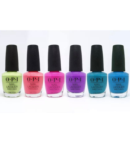 OPI Regular Lacquer - Summer 2019 - Limited Edition Neon Colors - 6 Colors