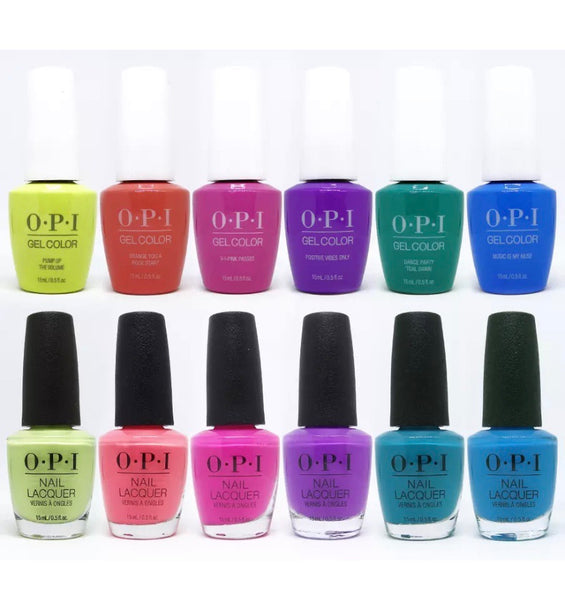 OPI  Lacquer + Gel - Summer 2019 - Limited Edition Neon Colors - 6 Colors