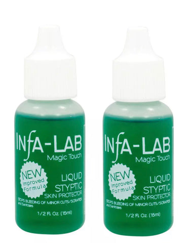 2 pack - INFA LAB - Liquid Styptic Nick Relief  (Stops bleeding)