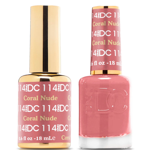 114 - DND DC GEL - CORAL NUDE