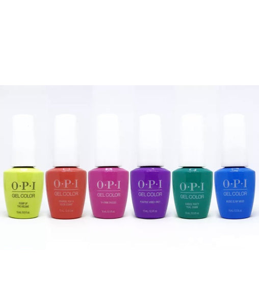 OPI Gel color  - Summer 2019 - Limited Edition Neon Colors - 6 Colors