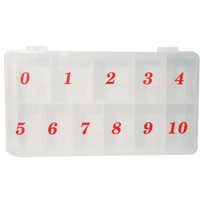 Empty Clear Numbered Nail Tip Storage Case