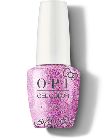 HP L03 - OPI Gel Color - LET'S CELEBRATE! - HELLO KITTY COLLECTION