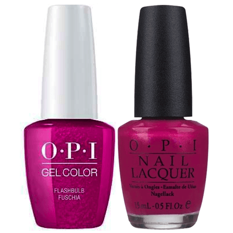 B31 OPI Gel color & Lacquer Duo set - Flashbulb Fuchsia