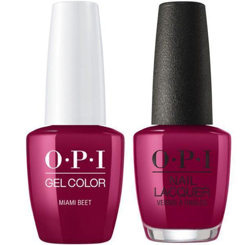 B78 OPI Gel color & Lacquer Duo set - Miami Beet