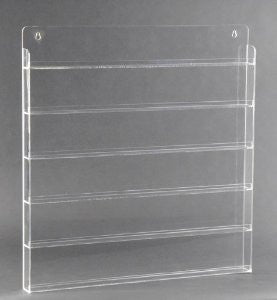 Clear Nail Polish Wall Rack (Holds 90 Bottles)