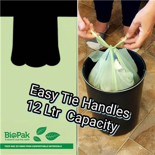 Compostable 25 x 12 Ltr Kitchen Tidy Bags