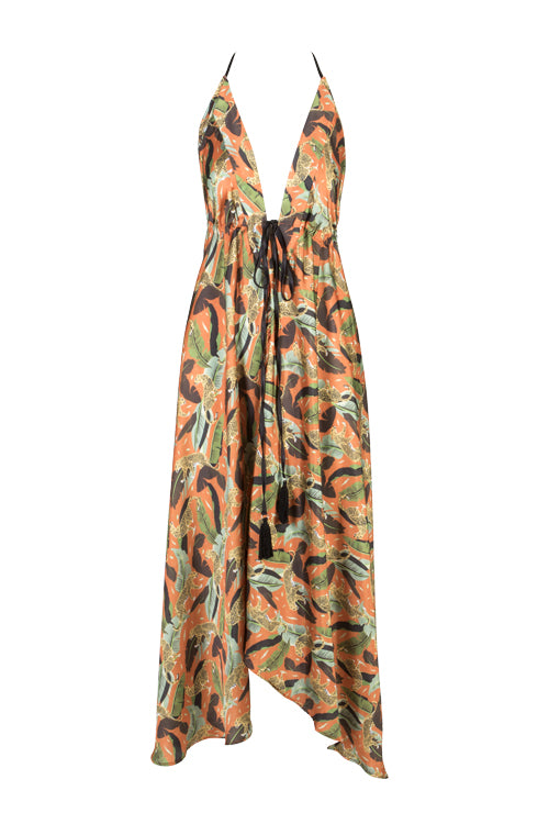 Ibiza Dress - Papaya Prowling Leopard