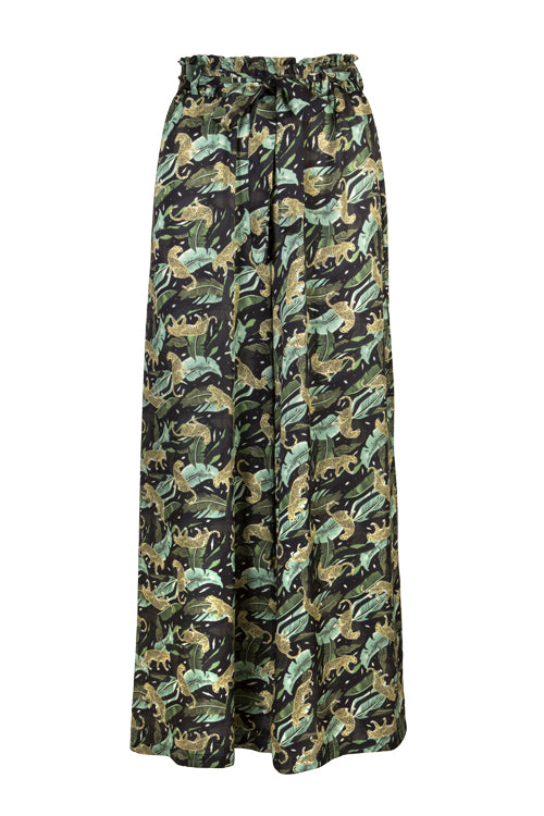 Palazzo Pants - Midnight Prowling Leopard