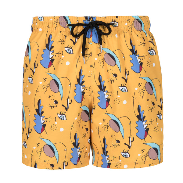 Men's Board shorts - Mustard Karoo