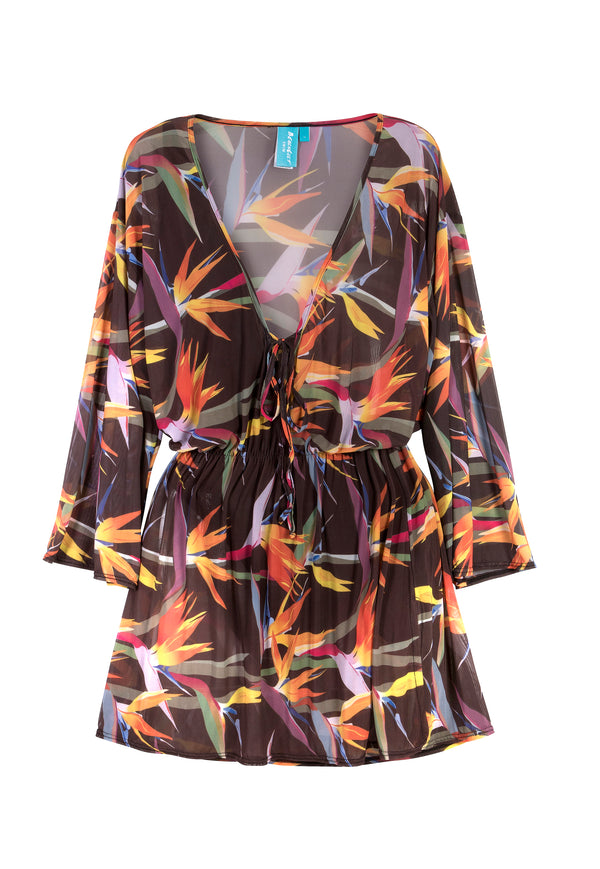 Cover Up - Black Strelitzia Mesh (SOLD OUT)