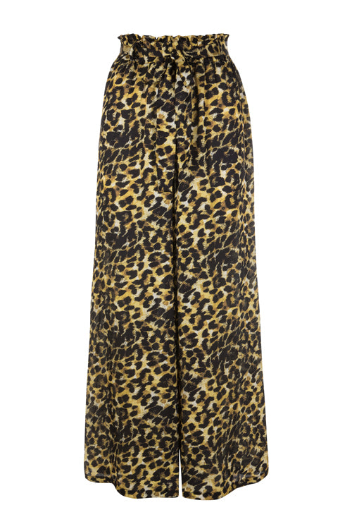 Painted Leopard Palazzo Pants (PRE-ORDER)