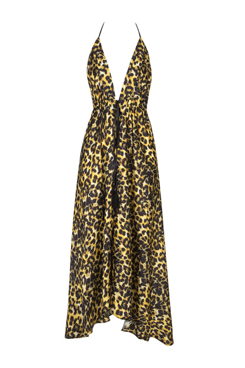 Painted Leopard Ibiza Dress ( Restocked!)