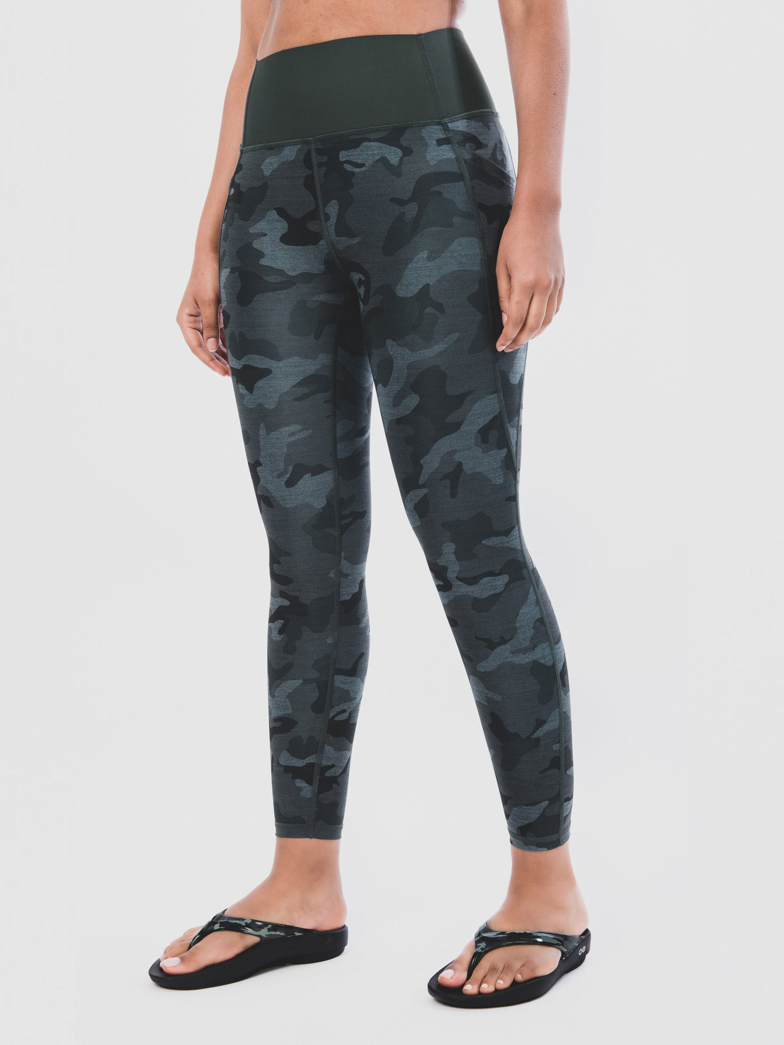 Women's OOlala Camo Green Knee Down