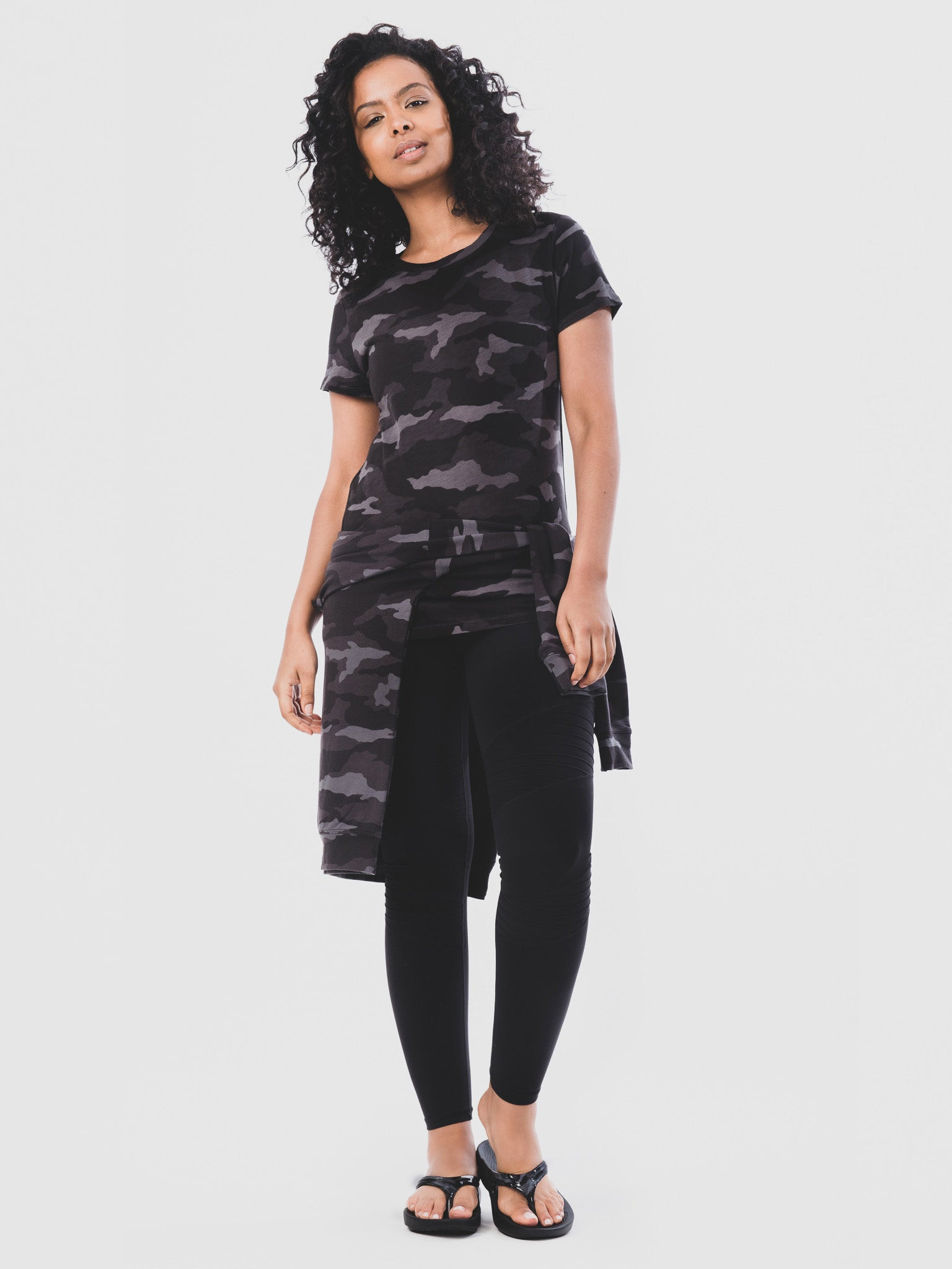 Women's OOlala Camo Black Full Length