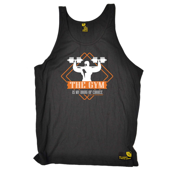 Sex Weights and Protein Shakes Gym Bodybuilding Vest - Gym Drug Of Choice - Bella Singlet Top