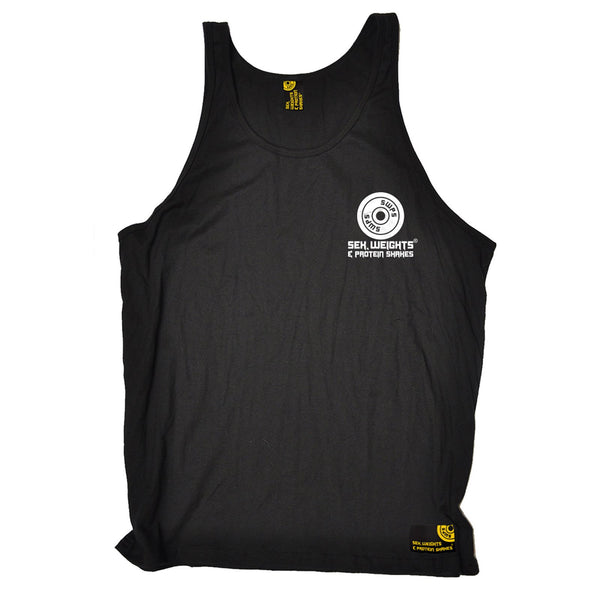 FB Sex Weights and Protein Shakes Gym Bodybuilding Vest - Cant Ban These Guns - Bella Singlet Top