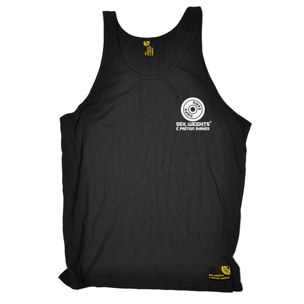 FB Sex Weights and Protein Shakes Gym Bodybuilding Vest - At The Gym - Bella Singlet Top