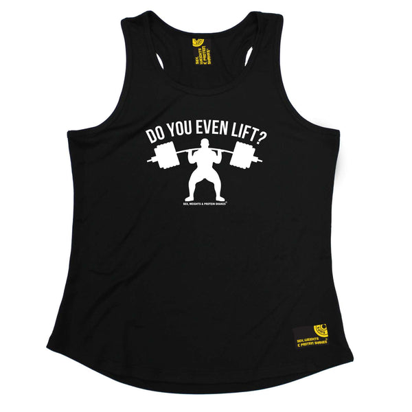 Sex Weights and Protein Shakes Womens Gym Bodybuilding Vest - Do You Even Lift - Dry Fit Performance Vest Singlet
