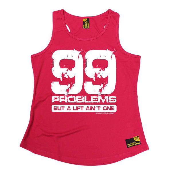 Women's Sex Weights and Protein Shakes Lift Aint One Gym DRYFIT ACTIVE WEAR TRAINING VEST SINGLET