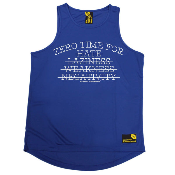 SWPS Zero Time For Hate … Negativity Sex Weights And Protein Shakes Gym Men's Training Vest
