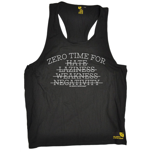 SWPS Zero Time For Hate … Negativity Sex Weights And Protein Shakes Gym Men's Tank Top
