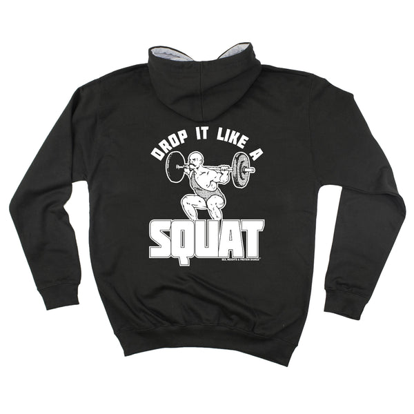 FB Sex Weights and Protein Shakes Gym Bodybuilding Tee - Drop It Like A Squat -  Womens Fitted Cotton T-Shirt Top T Shirt