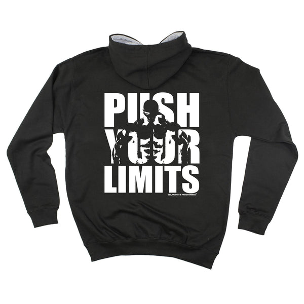 FB Sex Weights and Protein Shakes Gym Bodybuilding Tee - Push Your Limits -  Womens Fitted Cotton T-Shirt Top T Shirt