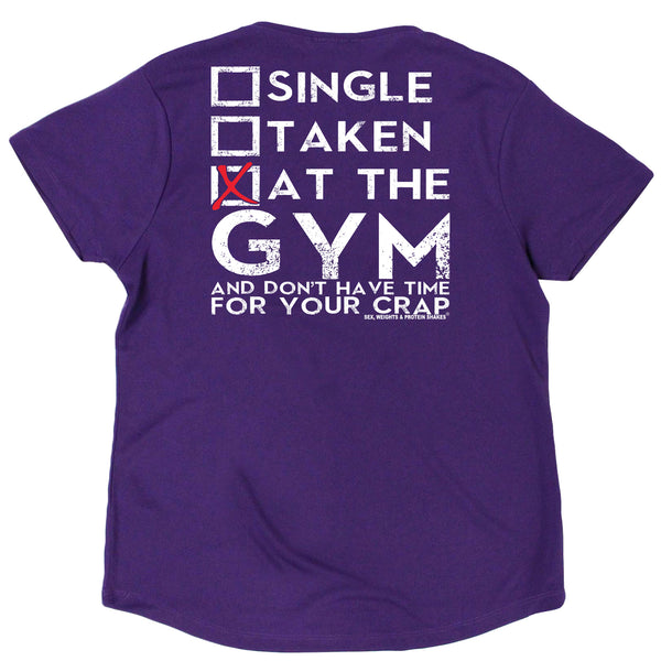 FB Sex Weights and Protein Shakes Womens Gym Bodybuilding Tee - At The Gym - V Neck Dry Fit Performance T-Shirt