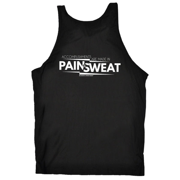 FB Sex Weights and Protein Shakes Gym Bodybuilding Vest - Pain And Sweat Accomplishments - Bella Singlet Top