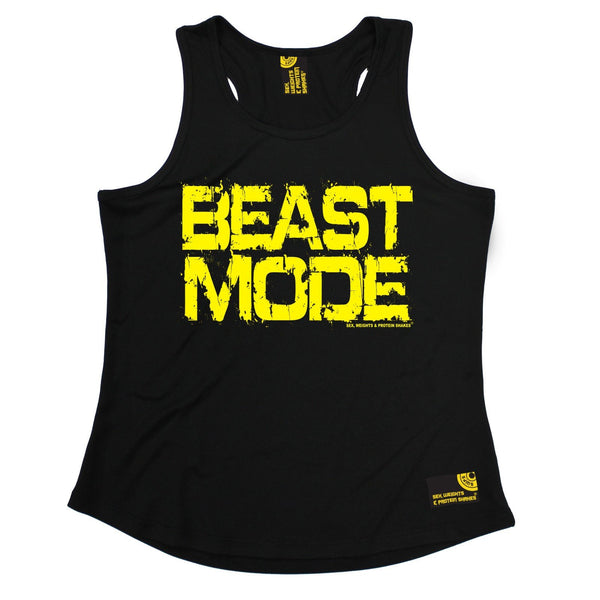 SWPS Beast Mode Sex Weights And Protein Shakes Gym Girlie Training Vest