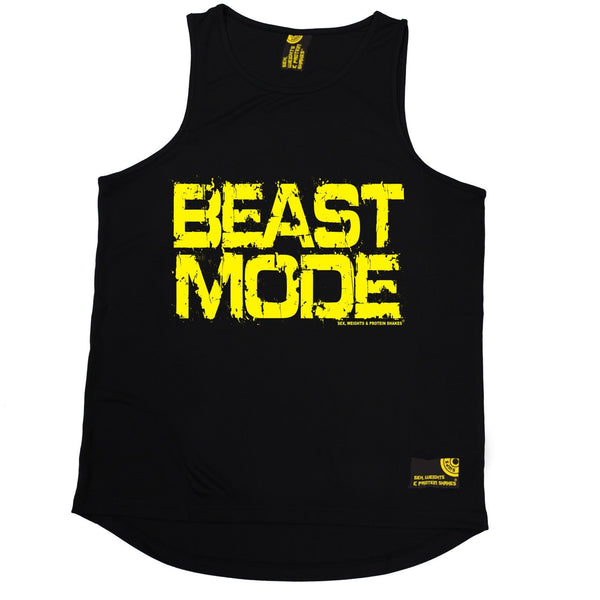 Sex Weights and Protein Shakes Beast Mode Sex Weights And Protein Shakes Gym Men's Training Vest