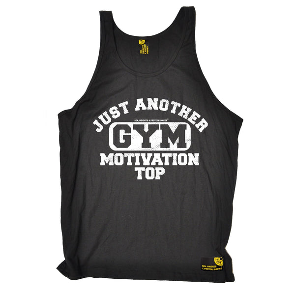 SWPS Just Another Gym Motivation Top Sex Weights And Protein Shakes Vest Top