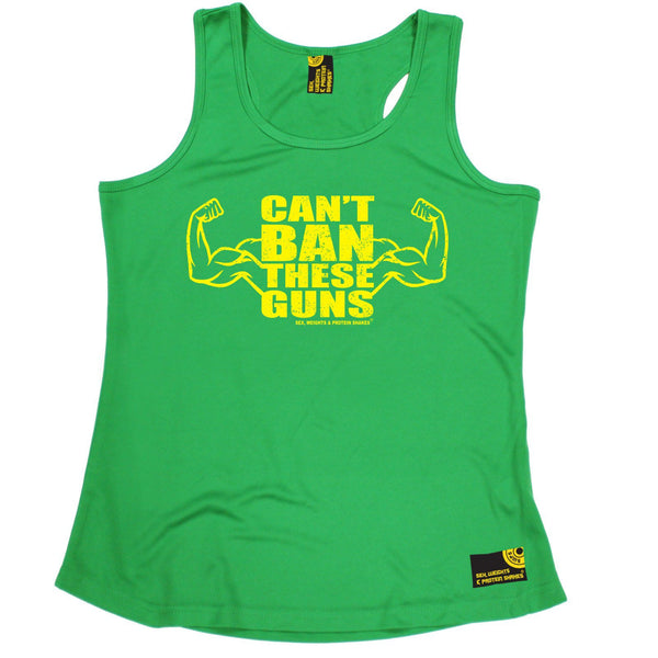 SWPS Can't Ban These Guns Sex Weights And Protein Shakes Gym Girlie Training Vest