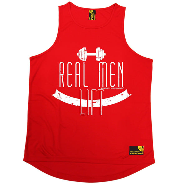 SWPS Real Men Lift Sex Weights And Protein Shakes Gym Men's Training Vest