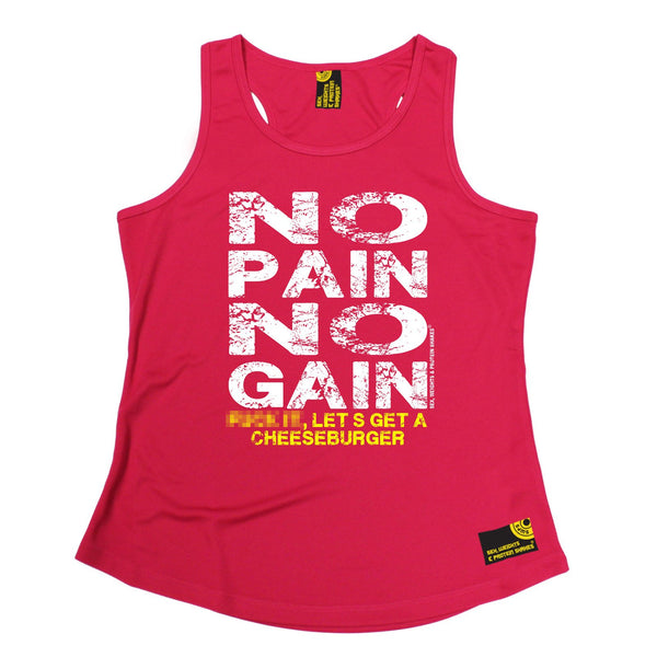 SWPS No I'm Not On Steroids Sex Weights And Protein Shakes Gym Girlie Training Vest