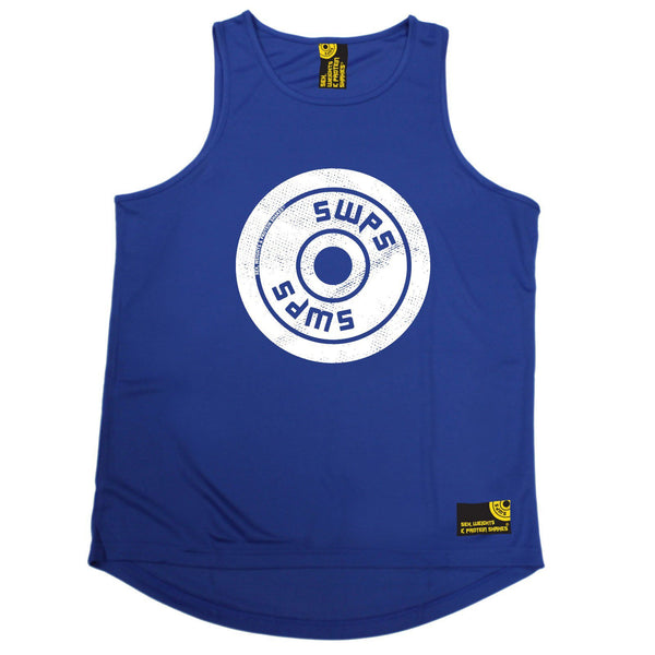 SWPS Weight Plate Big Logo Design Sex Weights And Protein Shakes Gym Men's Training Vest
