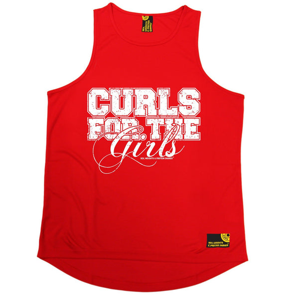SWPS Curls For The Girls Sex Weights And Protein Shakes Gym Men's Training Vest