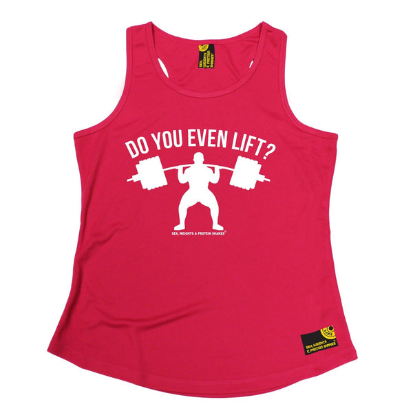 SWPS Do You Even Lift Sex Weights And Protein Shakes Gym Girlie Training Vest