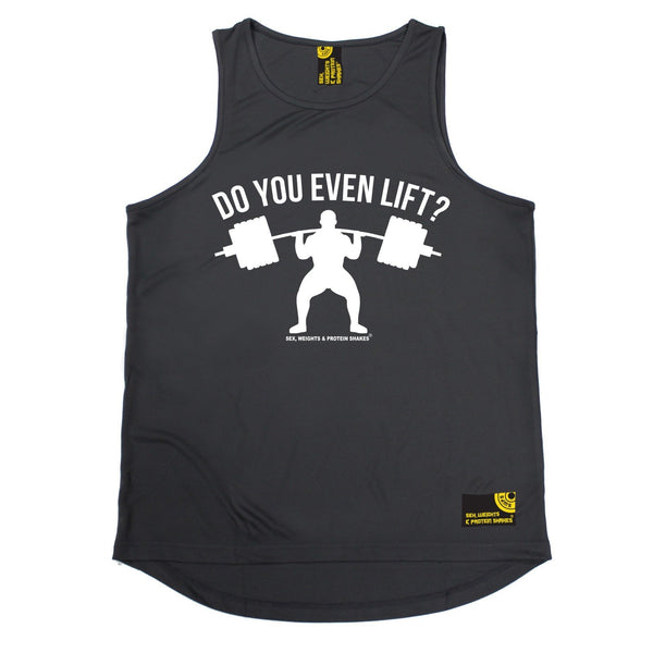 SWPS Do You Even Lift Sex Weights And Protein Shakes Gym Men's Training Vest
