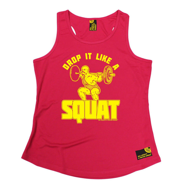 SWPS Drop It Like A Squat Sex Weights And Protein Shakes Gym Girlie Training Vest