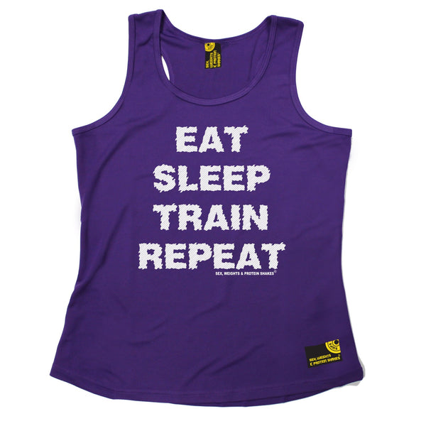 Eat Sleep Train Repeat Girlie Performance Training Cool Vest
