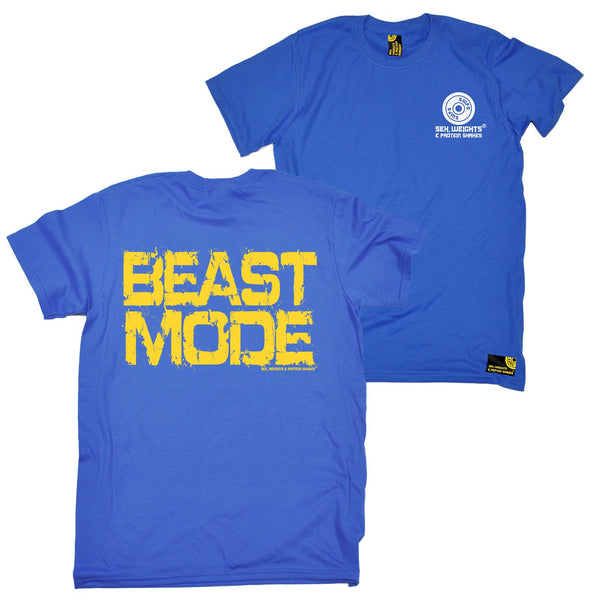 FB Sex Weights and Protein Shakes Gym Bodybuilding Tee - Beast Mode - Mens T-Shirt