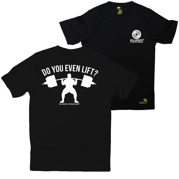 FB Sex Weights and Protein Shakes Gym Bodybuilding Tee - Do You Even Lift - Dry Fit Performance T-Shirt