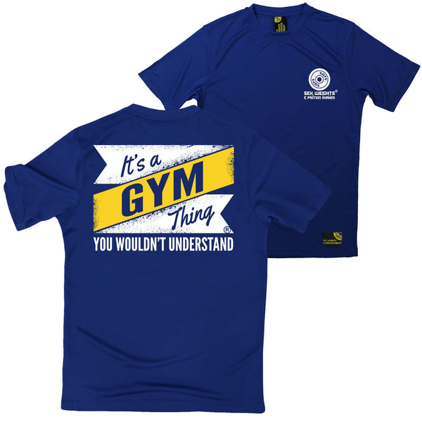 FB Sex Weights and Protein Shakes Gym Bodybuilding Tee - Its A Gym Thing - Dry Fit Performance T-Shirt