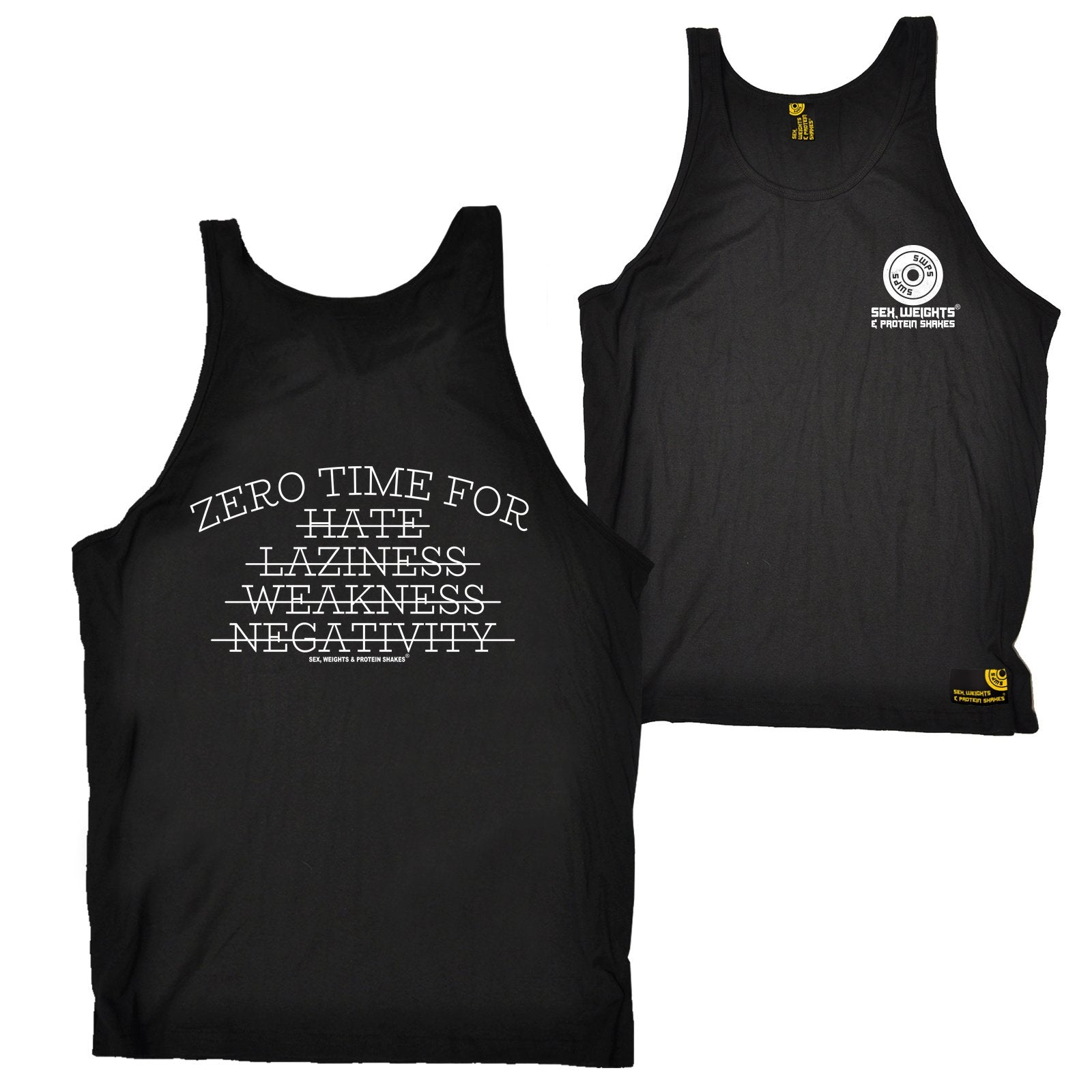 FB Sex Weights and Protein Shakes Gym Bodybuilding Vest - Zero Time For - Bella Singlet Top
