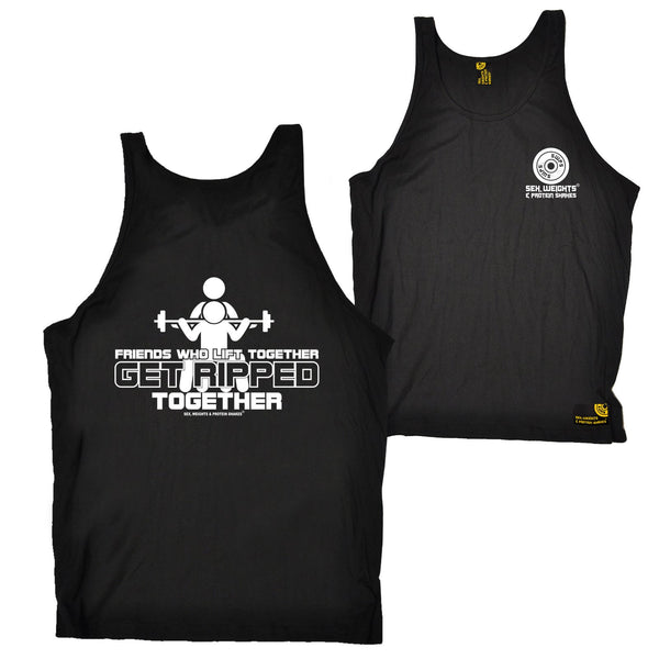 FB Sex Weights and Protein Shakes Gym Bodybuilding Vest - Friends Who Lift - Bella Singlet Top